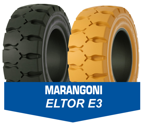 Marangoni Eltor E3 Forklift and Industrial solid tyre